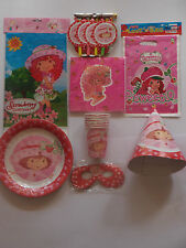 STRAWBERRY SHORTCAKE TABLECOVER NAPKINS MASKS BLOWERS COMBINE POSTAGE!