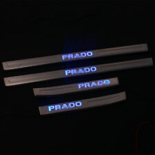 Stainless Steel Blue Led Door Sill Scuff Plate Trim for Toyota Prado 2010-2016