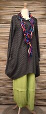 LAGENLOOK**MB GERMANY**OVERSIZED QUIRKY WAFFLE EFFECT TUNIC**BROWN**SIZE 1 L-XL