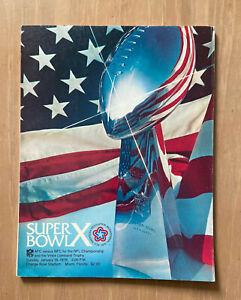 VINTAGE 1975-1976 NFL SUPER BOWL X PROGRAM DALLAS COWBOYS vs PITTSBURGH STEELERS