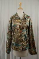 Chico's Womens Blazer Jacket Sz 3 XL 16 X-Large Coat Button Down Silk Blend