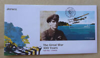 2015 JERSEY 100yrs GREAT WAR PART 2 STAMP MINI SHEET FDC FIRST DAY COVER