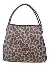 NWT COACH MADISON SMALL PHOEBE OCELOT PRINT SHOULDER BAG HANDBAG 27908 CHESTNUT