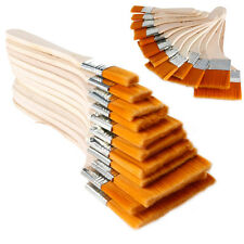 New Lot 12Pcs Wooden Oil Painting Brush Acrylic Watercolor Tools High Quality