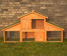 Conigliera pollaio gabbia per polli roditori conigli L 210 x 70 x 102 cm