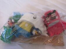 1993 Disney Burger King Mickey-Minnie Drive Convertible~Donald~Goofy Wind-Up Toy