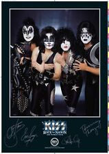 KISS - ROCK THE NATIONS HAND SIGNED RARE LITHO BY PAUL, GENE, ERIC & TOMMY - NEW