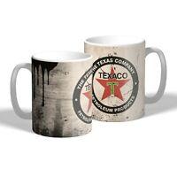 Texaco Mug Vintage Oil Can Effect Car Motorcycle Mechanic Tea Coffee Mug Gift