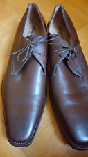 NEW SANTONI Lace Up Shoes Low Shoes Business Leather Brown US 11.5 EUR 45 UK 10.5