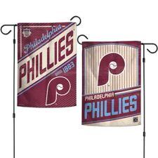 """New MLB  Philadelphia Phillies  2 Sided 12.5"""" X 18"""" Cooperstown Garden Flag"""