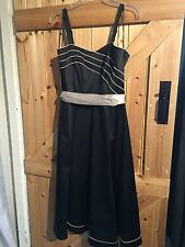 """Lovely Party / Formal Dress By M&Co Size 12 Chest 36"""" Black & Light Gold"""