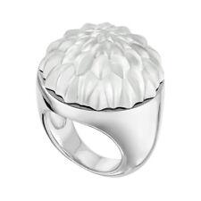 GENUINE LALIQUE Flora Bella Ring Size 59 Sterling Silver Art Deco (10607100)