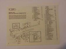 Mossberg Model 810 Rifle Parts assembly Diagram 1980's catalog  print ad