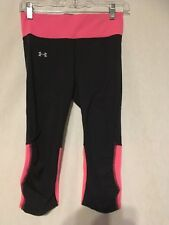 NEW Womens Size SMALL Under Armour® Heat Gear Pink Power Yoga Compression Capris