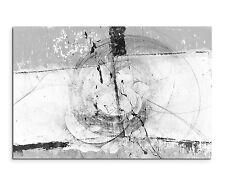 120x80cm Astratto_1324 Nero Bianco Ha Grigio Arte Tela Sinus Art