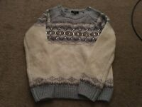 Blue/Cream Jumper, age 12/13 yrs from New Look 915
