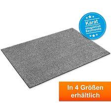 Baumwollmatte Karat Grau  | Waschbare Fussmatte Fussabtreter Schmutzfangmatte