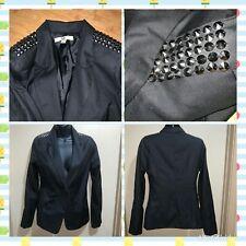 Ya Los Angeles Women's SZ S Black Casual Blazer w/ Studs