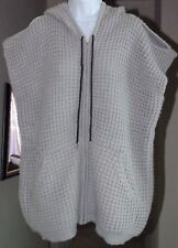LOLA X LF CHUNKY COLD SHOULDER M OVERSIZED ZIP FRONT HOODIE SWEATER VEST TUNIC