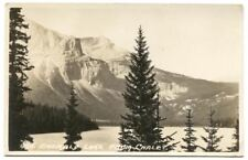 RPPC Postcard Emerald Lake from Chalet Canada