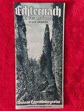 Ancien guide ECHTERNACH 1950 Liste hôtels Carte Petite Suisse Luxembourg