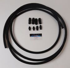 Automatic Transmission Cooler Line Kit -6 AN BLACK Nylon Braided Line Ford C4 C6