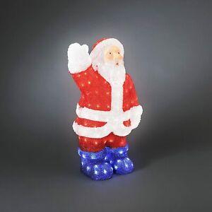 Xmas Ornament Acrylic Large LED Lights Santa Claus Father Christmas Outdoor 60cm