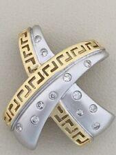 Stunning! Beautiful Designer 14Kt Two-Tone Diamond Pendant 5.6G (D01024312)
