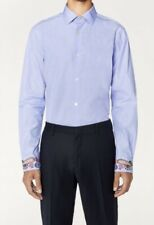 PAUL SMITH MEN'S SLIM FIT EMBROIDERED CUFF SHIRT SIZE 16.5