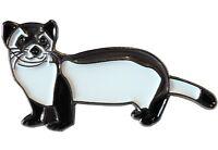 Ferret Polecat Wild Animal Pet 35mm Metal Enamel Pin Badge Brooch NEW