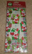 "20 Wilton ""Gifts From Santa"" Christmas Holiday Party Goody Loot Bags with ties"