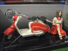 Solido 1/10 Moto scooter Lambretta LD 125cc 1956 avec Figurine