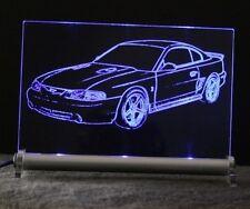 Ford Mustang GT IV / COBRA als Gravur auf LED Schild