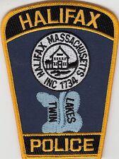 "HALIFAX POLICE PATCH MASSACHUSETTS MA ""TWIN LAKES"""