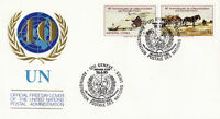 UNITED NATIONS 1985 40th ANNIVERSARY OF THE UN FIRST DAY COVER  GENEVA SHS