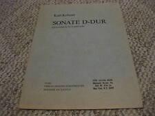 Karl Kohaut Sonate D-Dur Guitar Gesamtwerk fur Laute
