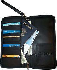 New Leather Organizer Checkbook wallet Airline tickets Passport 15 Credit Cards