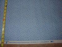 Vtg STYLE 30's Floral Medium Blue Calico Quilt COTTON FABRIC YD BTY Sara Morgan