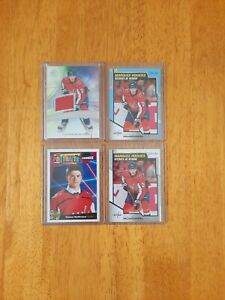 20-21 CONNOR MCMICHAEL LOT OF 4~SP GAME USED AUTHENTIC ROOKIES/OPC MARQUEE/ETC.