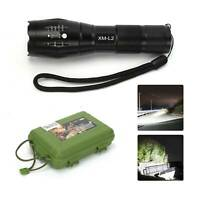 150000LM L2 LED Tactical Flashlight Torch USB Rechargeable Flashlight Hiking UK