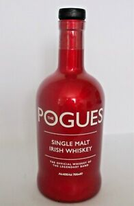 THE POGUES (band) EMPTY 700ml SINGLE MALT IRISH WHISKEY BOTTLE (RED)