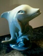 Turquise Dolphin/Porpoise Figurine, Made In Brazil