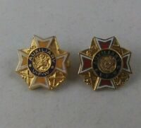 2 vtg  Auxiliary VFW Veterans of Foreign Wars award pinback pin button lapel *GG