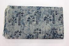 2.5 Yard Natural Indigo Blue Dye Shibori Printed Cotton Dabu Print Fabric Batick