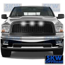 09-12 Dodge RAM 1500 Raptor Style Matte Black Mesh Grille+Shell+3x White LED