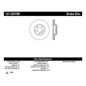 StopTech 127.33079R Sport Brake Rotor For 04-10 Porsche Cayenne NEW