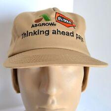New K Brand Hat Asgrow Gold Men's Beige Ear Flap Baseball Ball Cap Winter Farmer
