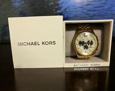 MICHAEL KORS Lexington Gold-Tone Stainless Steel Bracelet Men's Watch MK8494