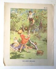More details for vintage classroom poster enid blyton collaboration circa 1938 - no.33 orchard