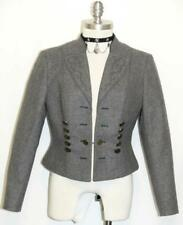 GRAY BOILED WOOL JACKET Coat Fitted German Hunt Equestrian Dirndl Short 10 M B40